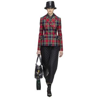 Dior Tartan Double Breasted Wool Blazer Jacket