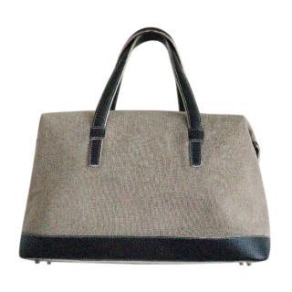 Loewe vintage Ecru/navy handbag