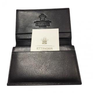 Ettinger Black Leather Card Case