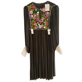 Manoush Black Embroidered Dress