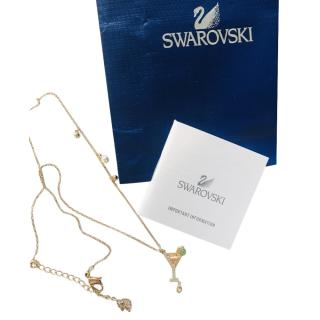 Swarovski Gold Tone Crystal Embellished Necklace