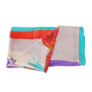 Giorgio Armani Multicoloured Silk Printed Scarf