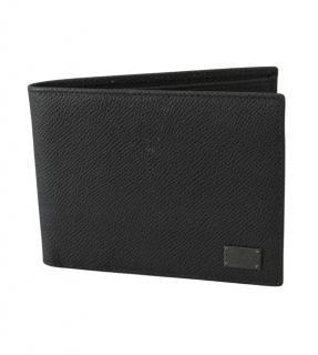 Dolce & Gabbana Mens Black Bifold Leather Wallet