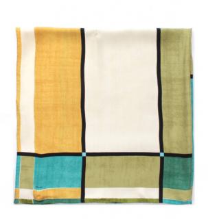 Prada Colourblock Silk Scarf