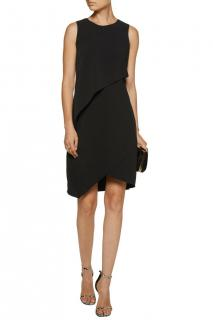 Halston Heritage Black Sleeveless Sheath Dress