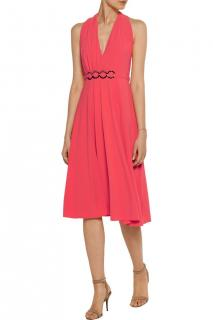 Halston Coral Halterneck Sleeveless Dress