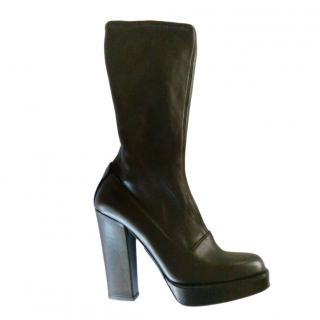 Prada Black Stretch Calfskin Boots