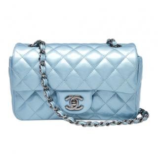 Chanel Pale Metallic Blue Classic Flap