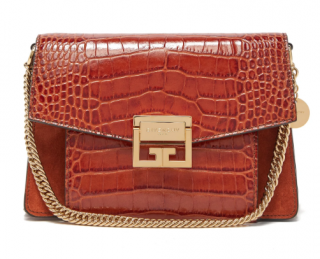 Givenchy GV3 small crocodile-effect leather cross-body bag
