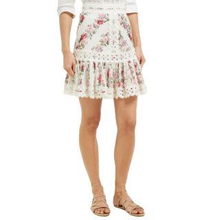 Zimmermann White Honour Pintuck Panelled Skirt