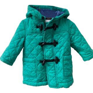 Burberry Kids Green Duffle Coat
