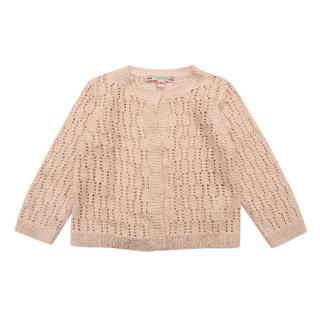 Bonpoint Blush Embroidered Knit Cardigan