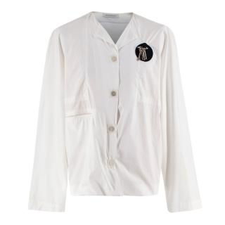 J.W. Anderson White Cotton Magnets Shirt