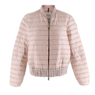 Moncler Pink Quilted Down Jacket