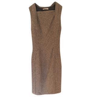Bottega Veneta Houndstooth Fitted Dress