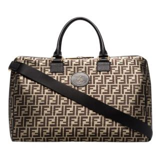 Fendi Black And Gold Mania Weekend Holdall