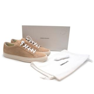 Common Projects Achilles Low Amber Suede Sneakers