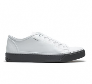 Lanvin White Low-Top Leather Sneakers