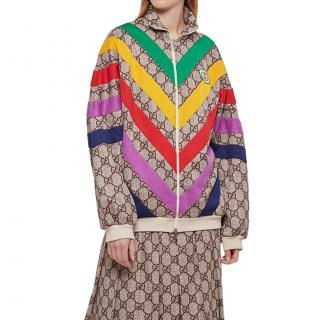 Gucci Multicolour Chevron Supreme Monogram GG Jacket