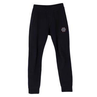 Lanvin Navy Cotton Spider Patch Sweatpants