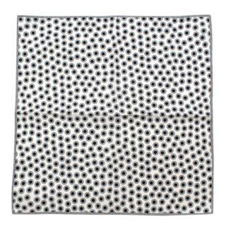 Brunello Cucinelli Grey Dotted Linen Handkerchief