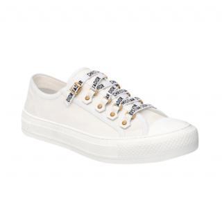 Dior white canvas Walk'n'Dior sneakers
