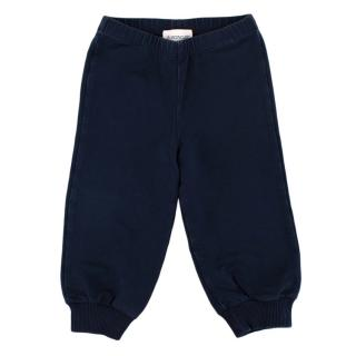 Moncler Navy Cotton Jersey Sweatpants