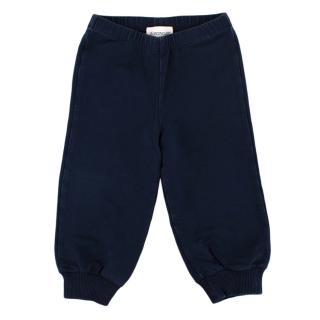 Moncler Navy Cotton Jersey Sweatpants