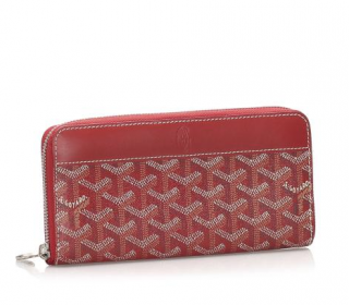Goyard Goyardine Matignon Red Wallet