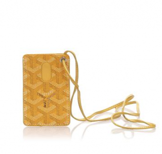 Goyard Yellow Goyardine ID Card Holder
