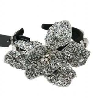 Dolce & Gabbana Crystal Leaf Applique Headband