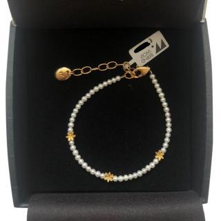 Bernd Wolf Gold Plated Freshwater Pearl Bracelet