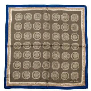Viola Milano Green Print Silk Handkerchief