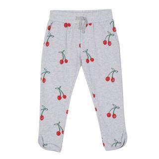 Stella McCartney Kids Grey Cherry Print Cotton Sweatpants