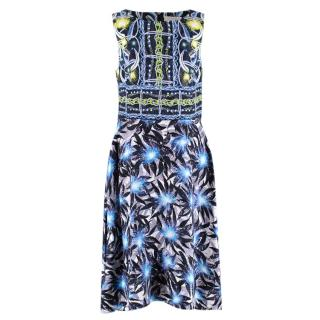 Peter Pilotto Leaf-print Silk Blend Sleeveless Dress