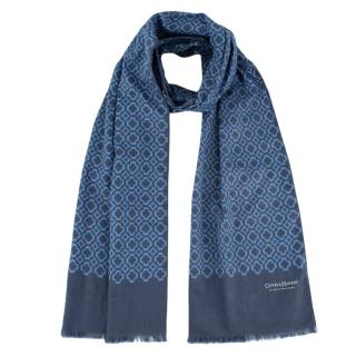 Gieves & Hawkes Geometric print double-faced scarf