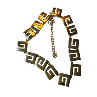 Givenchy Vintage G Link Necklace