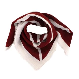 Lovat & Green Burgundy Geometric Print Cotton Neckerchief