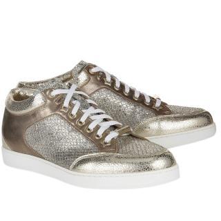 Jimmy Choo Glitter Miami Lower Metallic Sneakers