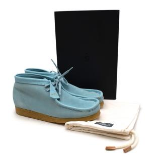 Clarks Originals Limited Edition Light Blue Wallabee Ankle Boots