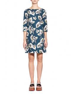 Marni Lily Print Blue Shift Dress