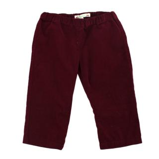 Bonpoint Burgundy Corduroy Trousers