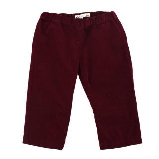 Bonpoint Burgundy Corduroy Trousers