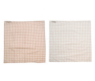 Anderson & Sheppard Set of 2 White & Cream Cotton Handkerchiefs