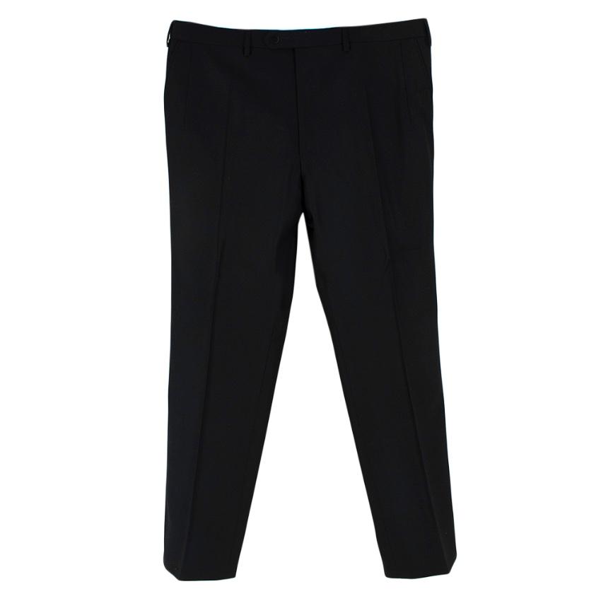 Donato Liguori Black Wool Hand Tailored Trousers