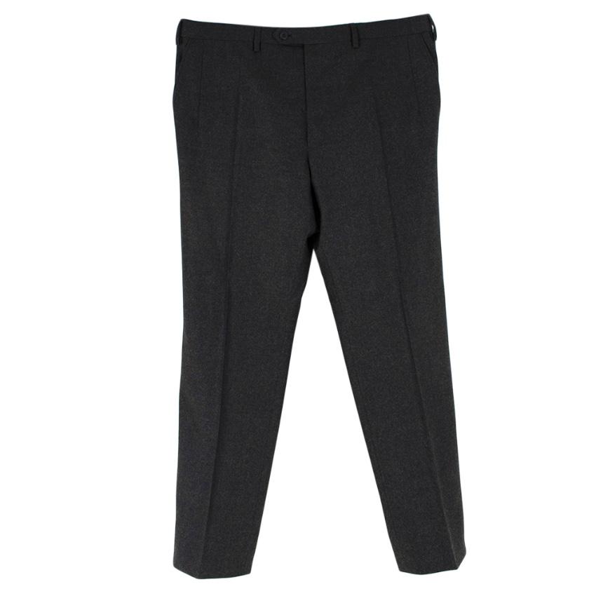 Donato Liguori Grey Wool Hand Tailored Trousers