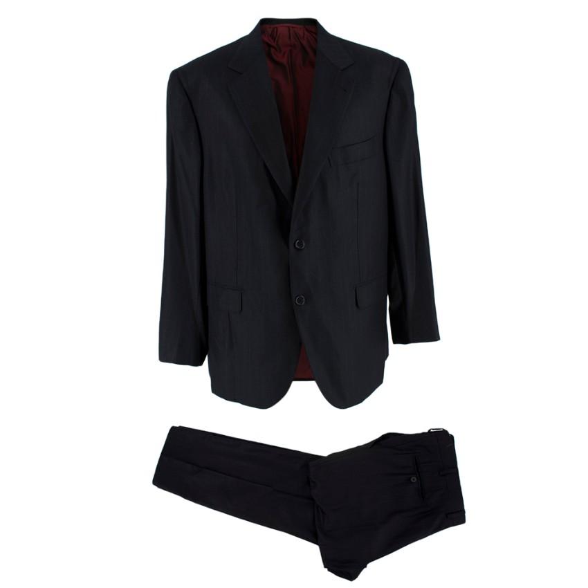 Donato Liguori Bespoke Black Pinstripe Suit