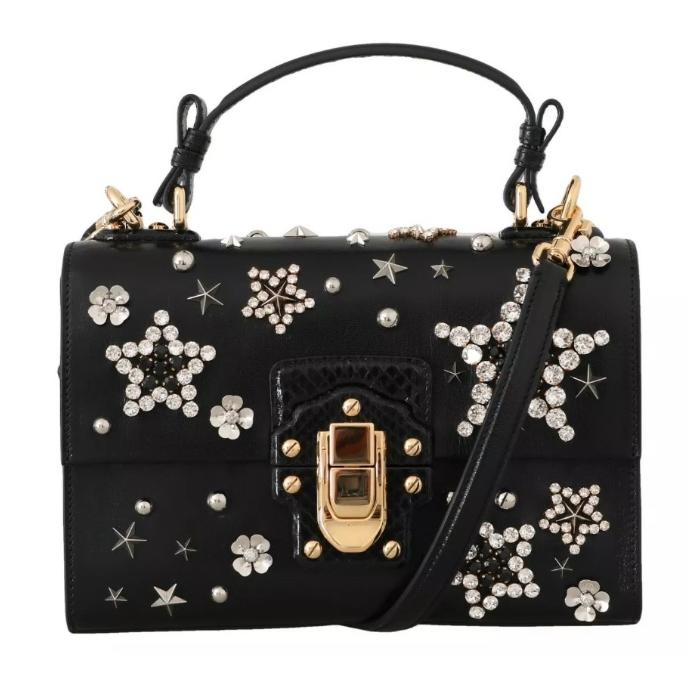 Dolce & Gabbana Crystal Star Lucia Top Handle Bag