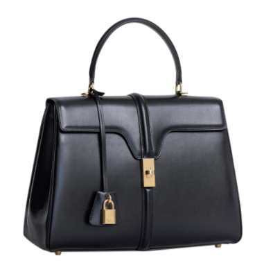 Celine Black Satinated Calfskin Medium 16 Bag