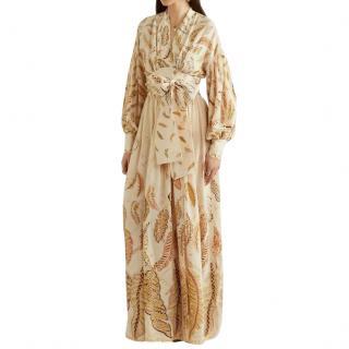 Three Graces x Zandra Rhodes Francille Silk Maxi Dress